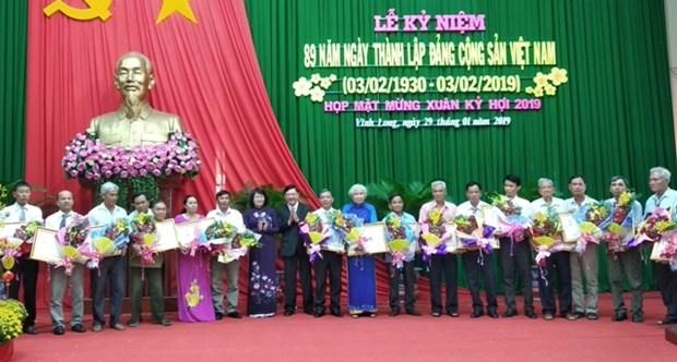 Celebration de l'anniversaire de la fondation du Parti a Vinh Long hinh anh 1