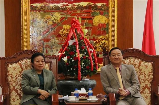 Voeux laotiens a l'occasion du 89e anniversaire de la fondation du PCV hinh anh 1
