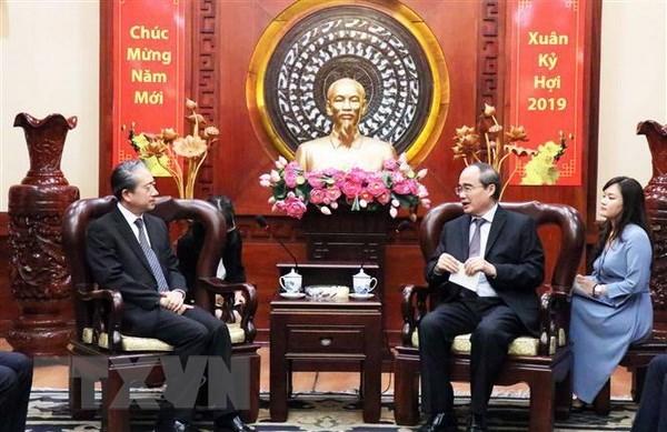 Ho Chi Minh-Ville et la Chine plaident pour des liens accrus hinh anh 1