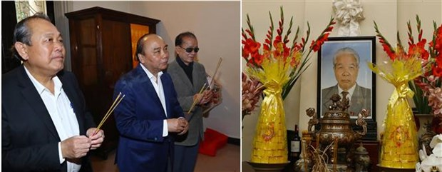 Le PM Nguyen Xuan Phuc rend hommage a d'anciens dirigeants hinh anh 2