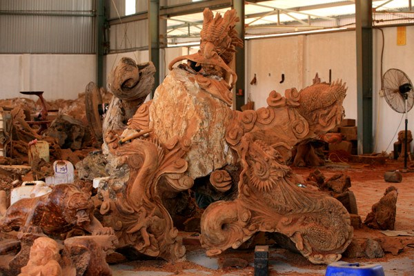 La sculpture sur bois de Dong Giao hinh anh 1