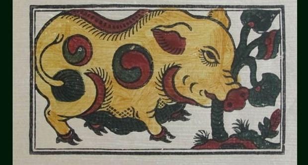 Dans les estampes de Dong Ho, tout est bon dans le cochon hinh anh 2