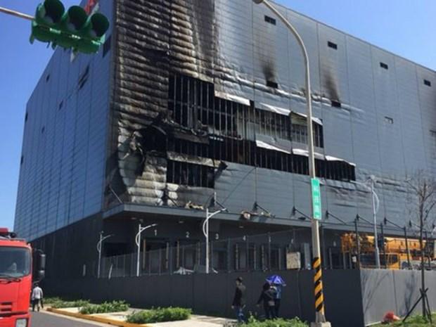Trois Vietnamiens tues dans l'incendie d'un entrepot a Taiwan hinh anh 1