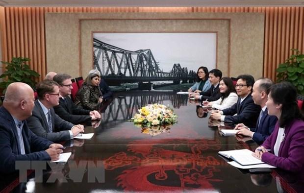 Le vice-PM Vu Duc Dam recoit une delegation de SOS Villages d'Enfants International hinh anh 1