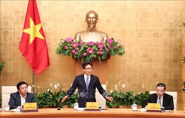 Le vice-PM Vu Duc Dam rencontre des scientifiques dans cinq grands projets hinh anh 1