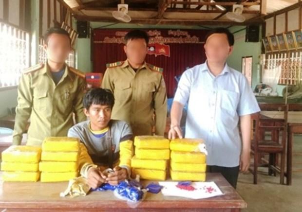 Quang Tri: Un Laotien arrete pour trafic de methamphetamine hinh anh 1