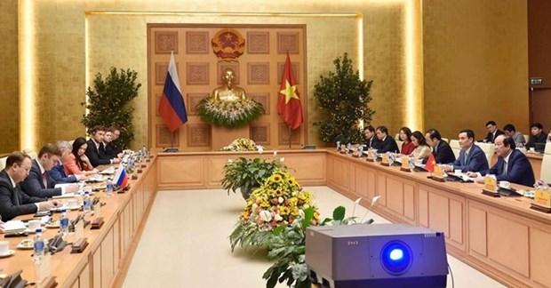 Le Vietnam et la Russie discutent de la construction d'un gouvernement electronique hinh anh 1