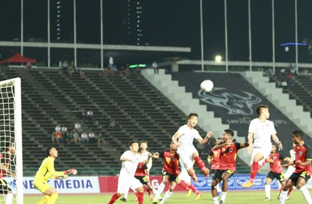 AFF U22 : le Vietnam qualifie pour les demi-finales hinh anh 1