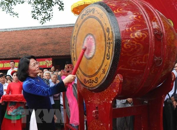La Fete du temple de Kinh Duong Vuong s'ouvre a Bac Ninh hinh anh 1