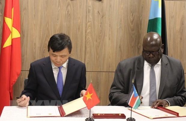 Vietnam et Soudan du Sud saluent la signification de l'etablissement des relations diplomatiques hinh anh 1