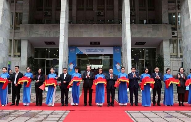 Ouverture du centre international de presse du Vietnam pour le 2e sommet Etats-Unis-RPDC hinh anh 1