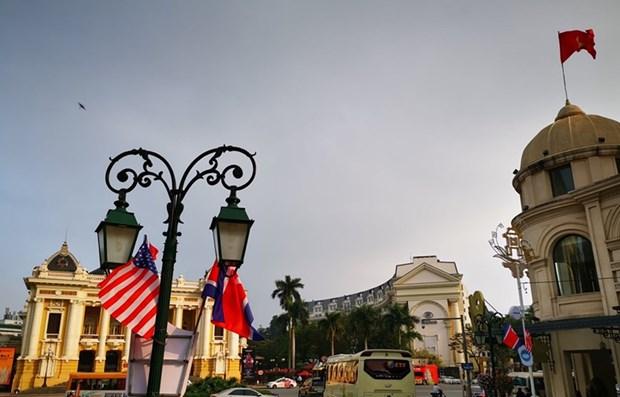 Hanoi s'embellit pour accueillir le 2e Sommet entre les Etats-Unis et la RPDC hinh anh 1