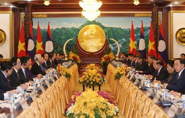 Entretien entre Nguyen Phu Trong et Bounnhang Vorachith hinh anh 1