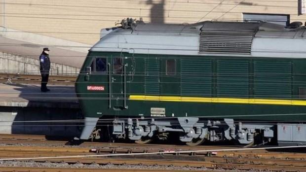 Medias internationaux: le train du dirigeant nord-coreen est arrive en Chine hinh anh 1