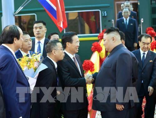Le president de la RPDC Kim Jong-un entame sa visite d'amitie officielle au Vietnam hinh anh 1