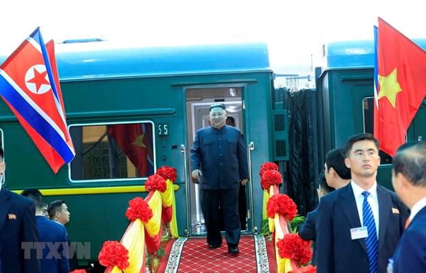 Le president Kim Jong-un est arrive au Vietnam hinh anh 1