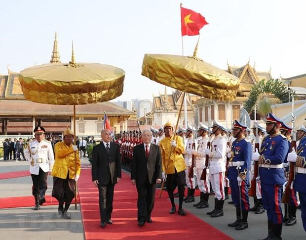 La presse cambodgienne apprecie la visite du dirigeant vietnamien Nguyen Phu Trong hinh anh 1