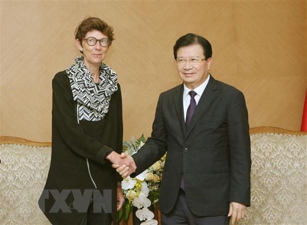 Le vice-PM Trinh Dinh Dung exhorte des investissements norvegiens au Vietnam hinh anh 1