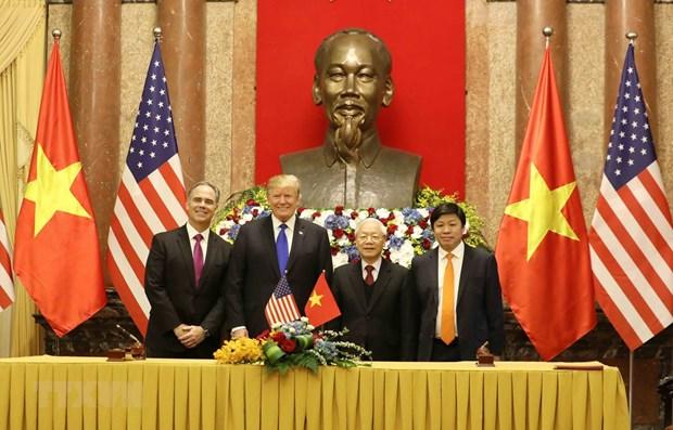 Le Vietnam et les Etats-Unis signent des documents de cooperation bilaterale hinh anh 1