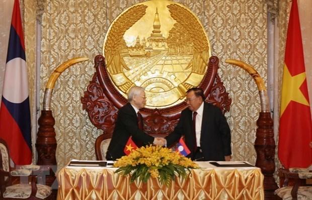 La tournee du leader du PCV dynamise les liens avec le Laos et le Cambodge hinh anh 1