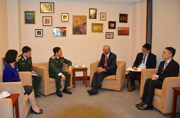 Le Vietnam et Singapour veulent renforcer leurs liens de defense hinh anh 1