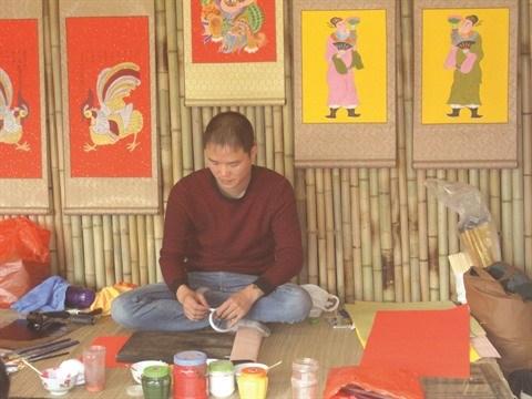 La peinture folklorique de Kim Hoang s'offre une seconde jeunesse hinh anh 2