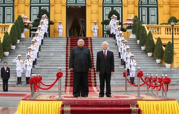 La visite au Vietnam du president nord-coreen vue par la presse japonaise hinh anh 1