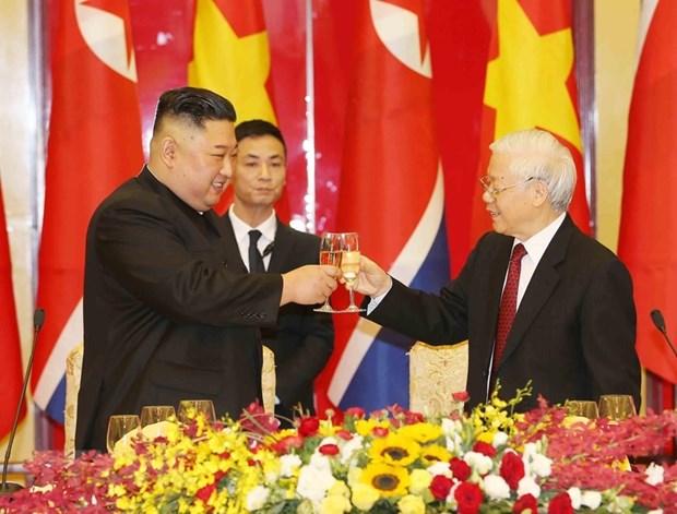Banquet en l'honneur du president nord-coreen en images hinh anh 5