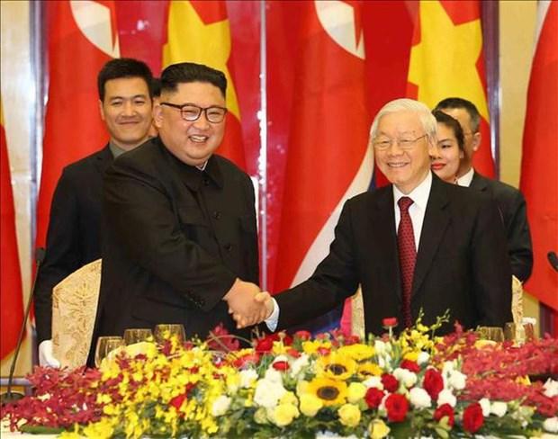 Banquet en l'honneur du president nord-coreen en images hinh anh 3