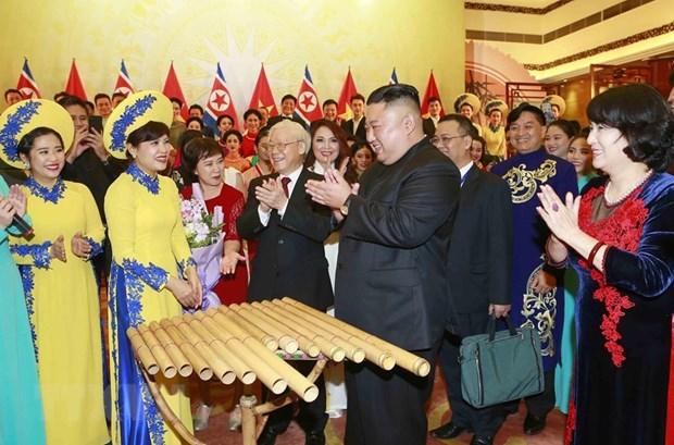 Banquet en l'honneur du president nord-coreen en images hinh anh 8