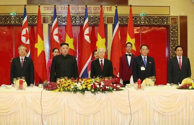 Banquet en l'honneur du president nord-coreen en images hinh anh 1