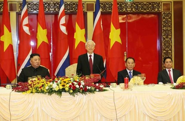 Banquet en l'honneur du president nord-coreen en images hinh anh 2