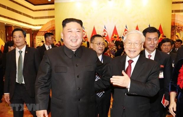 Banquet en l'honneur du president nord-coreen en images hinh anh 6