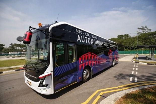 Le premier bus electrique sans conducteur au monde devoile a Singapour hinh anh 1