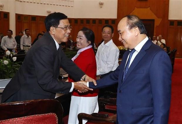 Le Premier ministre recoit des personnes meritantes de Da Nang hinh anh 1