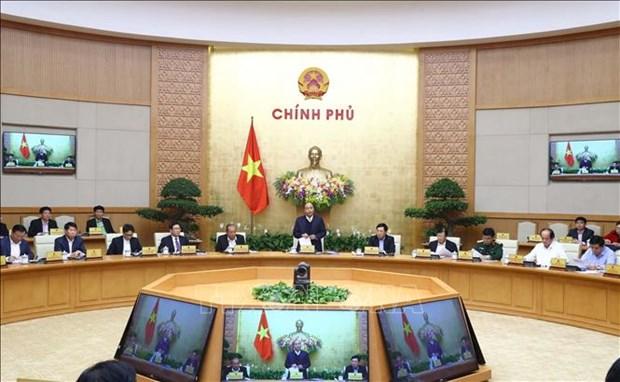 Le PM preside une reunion gouvernementale sur la legislation hinh anh 1