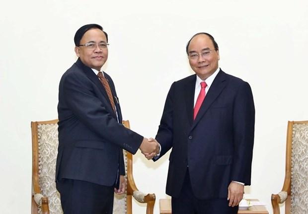 Le PM recoit le ministre de la Cooperation internationale du Myanmar hinh anh 1