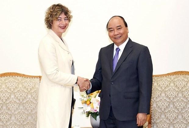 Le PM recoit l'ambassadrice des Pays-Bas hinh anh 1