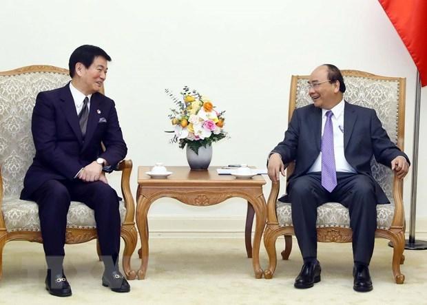 Le PM recoit le gouverneur de la prefecture japonaise de Chiba hinh anh 1