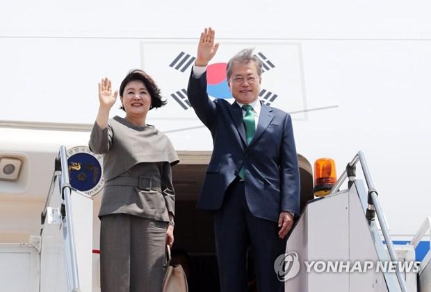 Le president sud-coreen entamme sa visite d'Etat au Cambodge hinh anh 1
