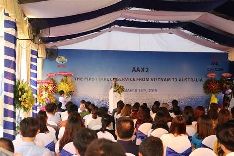 Le premier service de fret maritime direct Vietnam-Australie lance au Sud hinh anh 1