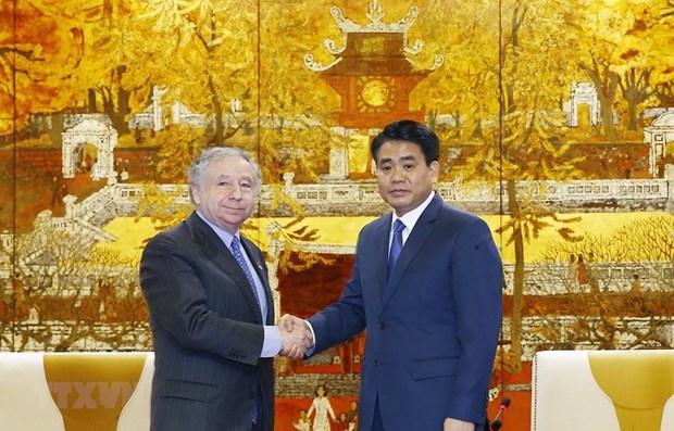 Hanoi remercie la FIA pour son aide dans l'organisation de la F1 hinh anh 1
