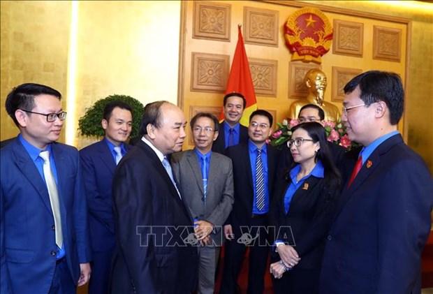 Le PM encourage les jeunes a promouvoir leur role d'avant-garde hinh anh 1