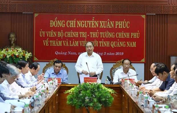 Le Premier ministre Nguyen Xuan Phuc en visite de travail a Quang Nam hinh anh 1
