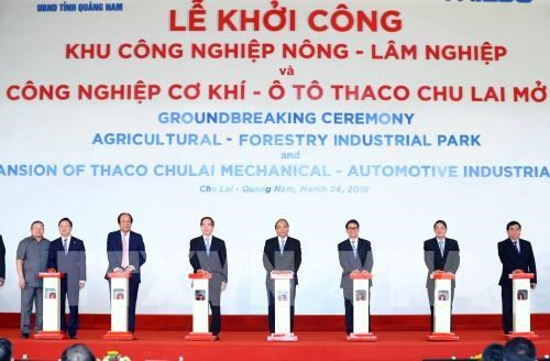 Thaco Truong Hai met en chantier plusieurs ouvrages a Quang Nam hinh anh 1