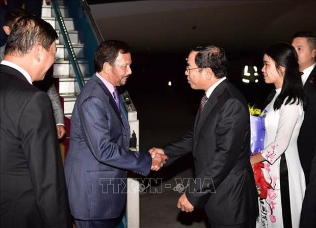 Le sultan du Brunei entame sa visite d'Etat au Vietnam hinh anh 1