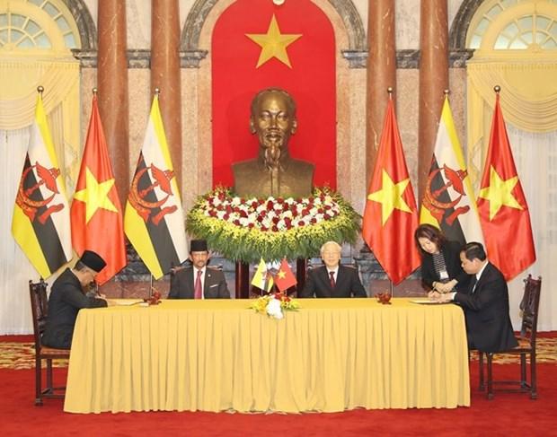 Declaration commune Vietnam-Brunei sur l'etablissement d'un partenariat integral hinh anh 1