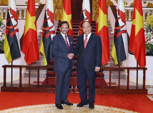 Le PM Nguyen Xuan Phuc souligne l'importance du partenariat integral Vietnam-Brunei hinh anh 1
