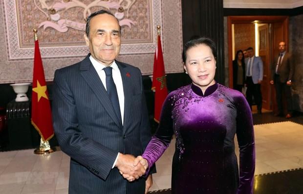 Entretien entre la presidente de l'AN vietnamienne et le president de la Chambre des Representants marocaine hinh anh 1
