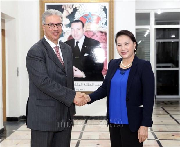 La presidente de l'AN se rend dans la ville de Marrakech au Maroc hinh anh 1